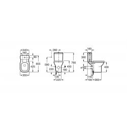 Dimension du Pack WC avec Réservoir Attenant DEBBA