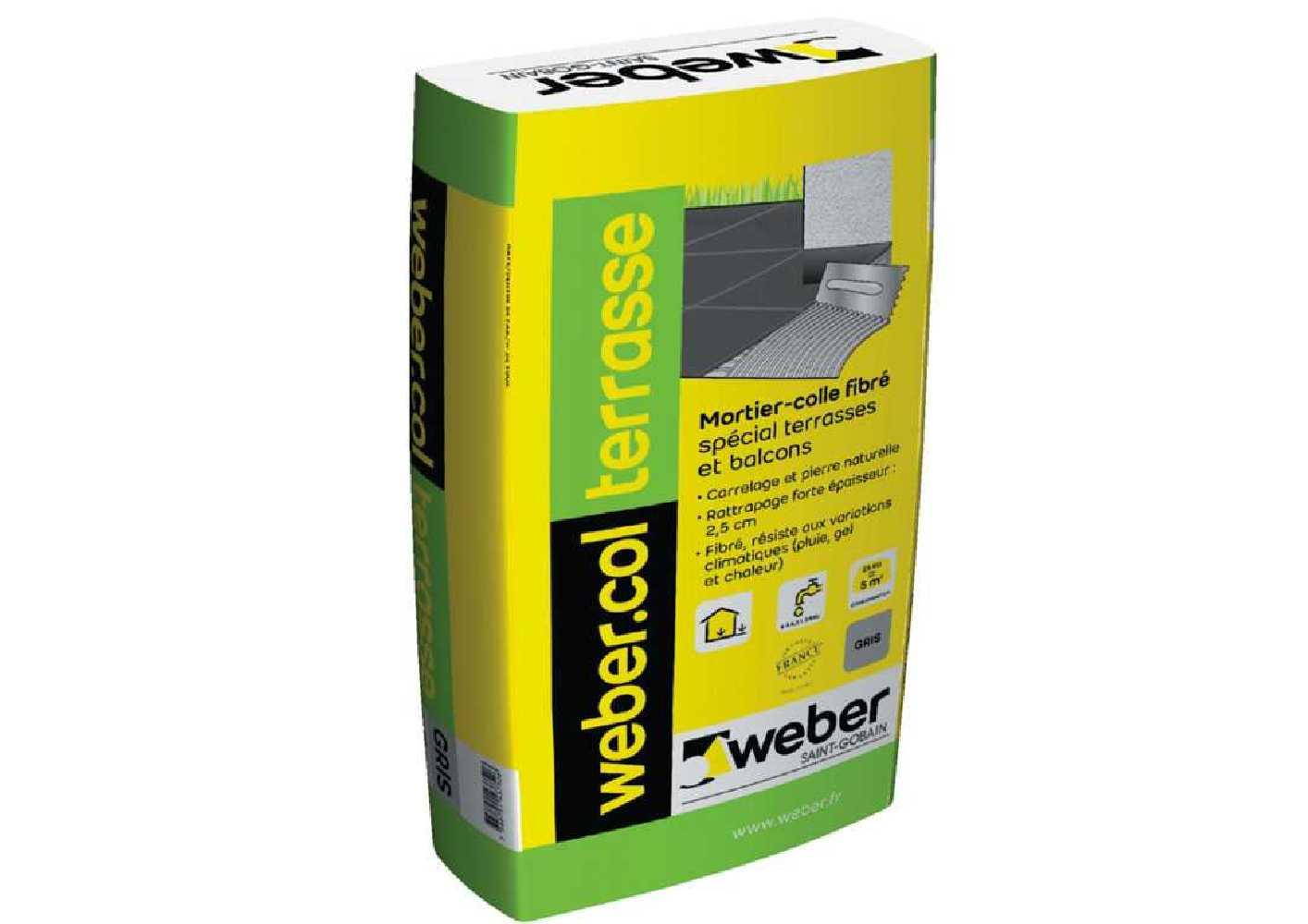 Weber.col terrasse gris - sac de 25kg