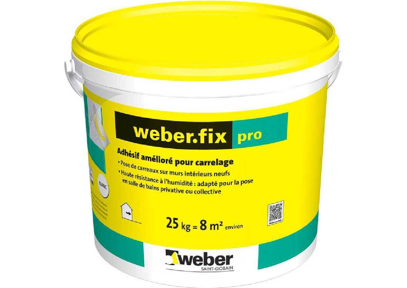 Weber.fix pro - colle en seau de 25 kg