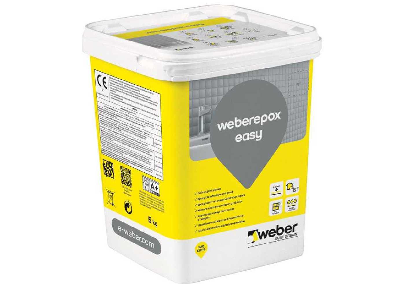 Weberepox easy blanc pot de 5kg