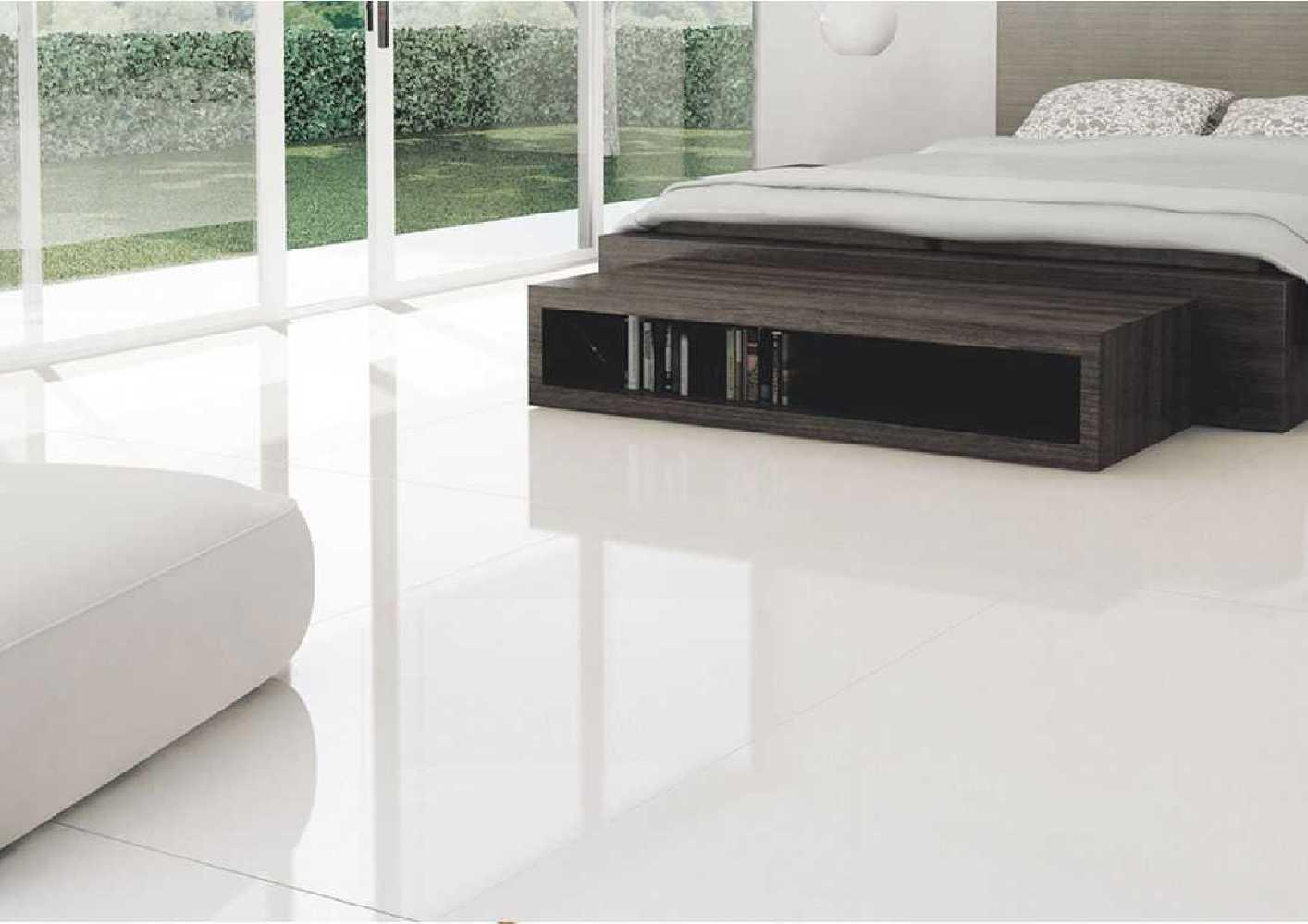 Ambiance Carrelage poli brillant blanc 60X120 Durstone