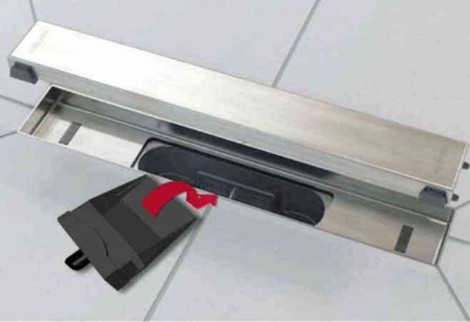 Siphon à membrane caniveau pour douche à l'italienne Venisio Slim