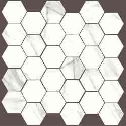 Mosaico  hex Statuario Durstone 30X30