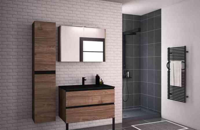 Meuble salle de bains Allure Discac façade Cottage Noyer