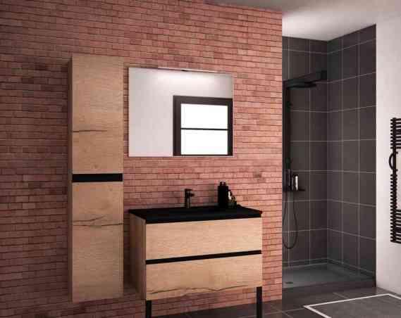 Meuble salle de bains Allure Discac façade origine Chêne brut