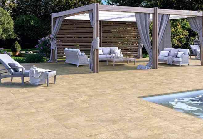 Ambiance Quartz extérieur Castelvetro gold