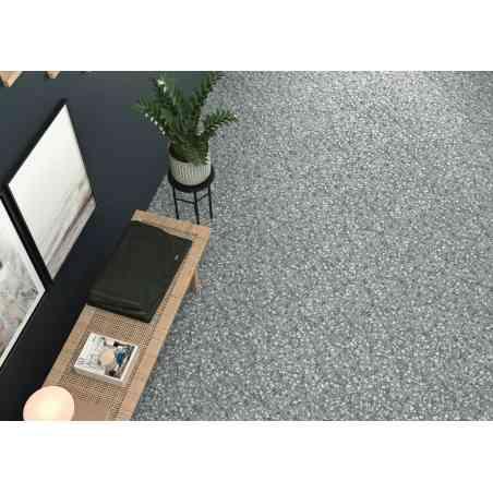 Ambiance Terazzo 23X27 hexagonal série Six grey