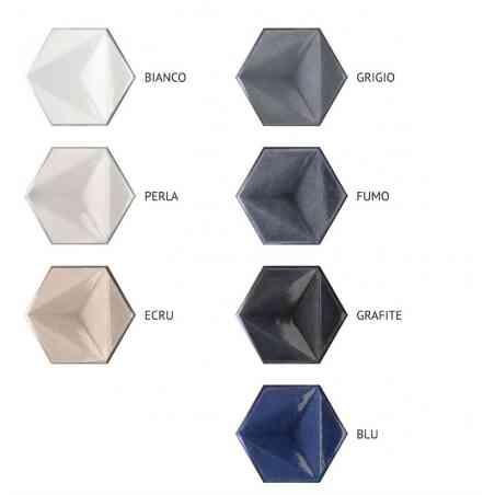 Couleurs faïence hexagonale 13,1X17,3 Chroma.