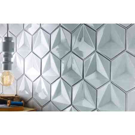 Ambiance faïence hexagonale 13,1X17,3 Chroma Bianco
