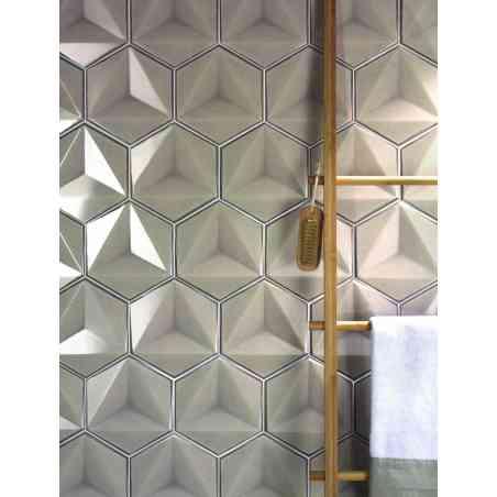 Ambiance Faïence hexagonale 13,1X17,3 Chroma Ecru