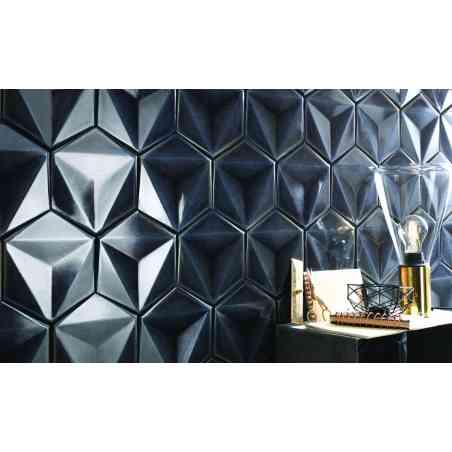 Ambiance faïence hexagonale 13,1X17,3 Chroma Grafite