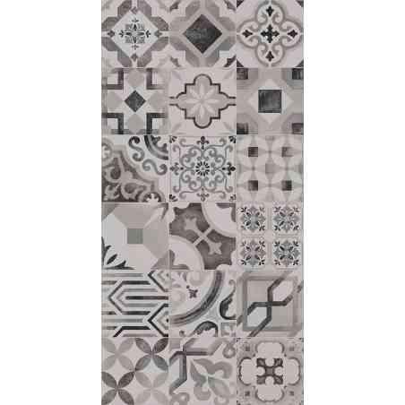 Carrelage Cementine 20X20 aspect ciment Bianco Nero