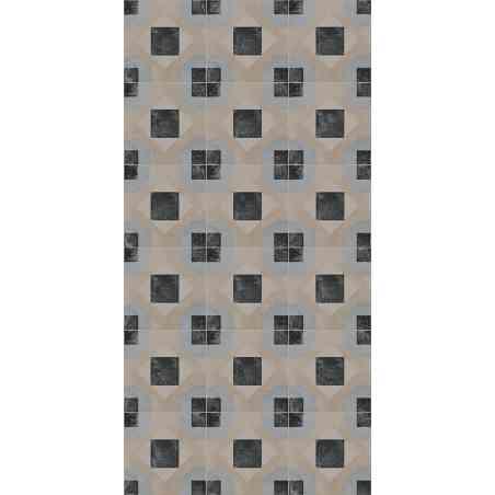 Ambiance Carrelage Cementine 20X20 aspect ciment Tapis coloré