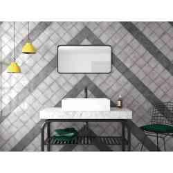 Carrelage mural 13.2x13.2 Vestige Cool Grey et vestige Hat Black - Equipe Ceramica