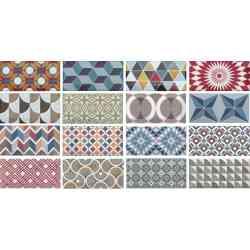 Série métro patchwork 7,5x15 Equipe